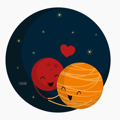 Vrolijke planeten
